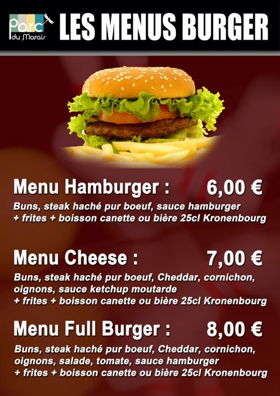 Menus burger
